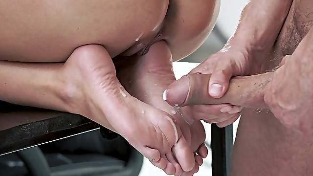 Cum on feet videos